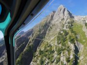 Durant la montée passagés, le mont à Caca