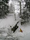 Exploration hivernal au gouffre de Lajoux (JU)
