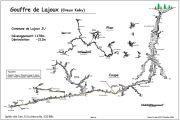 Topo du Gouffre de Lajoux