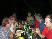 Les Charbonnières: Après une visite éprouvente, pique-nique au claire de lune